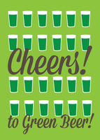 Cheers to Green Beer